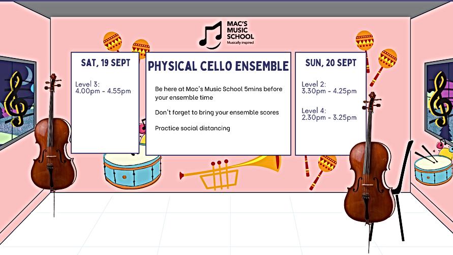 Cello Ens Schedule