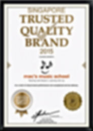Singapore Trusted Quality Brand 2015 Mac's Music School