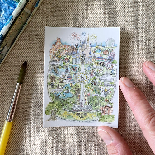 """Disney World Map"" Sticker"