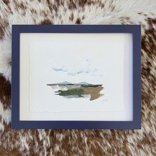"""""""Brushed Landscape Navy 2"""" 11x14"""