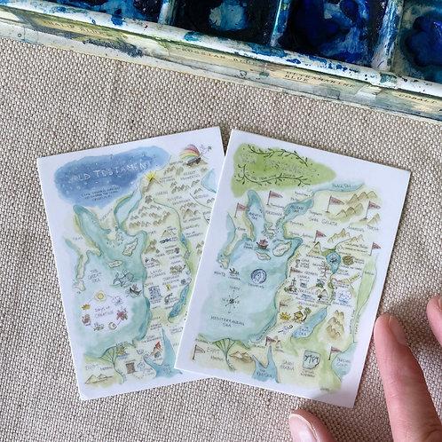 "Bible Story Watercolor Map"" Sticker Set"