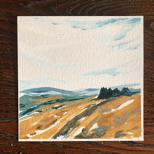 """Kate's View 2"" 5x5 Framed"