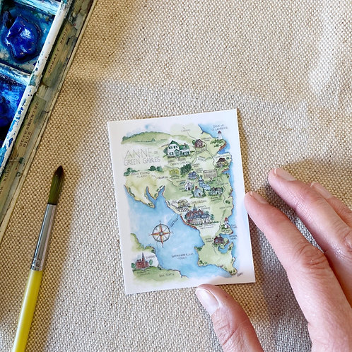 """""""Anne of Green Gables Story Map"""" Sticker"""