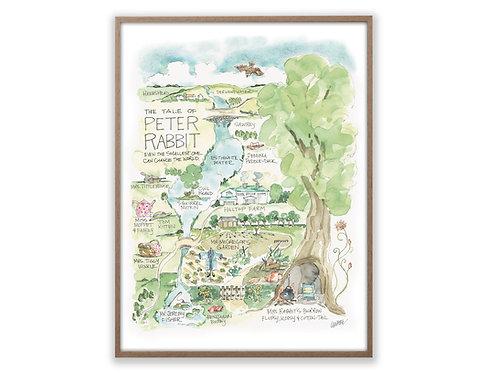 """Peter Rabbit Story Map"" Print"