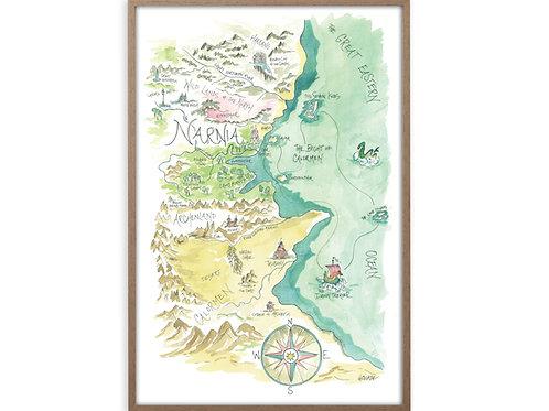 """Narnia Series Map"" Print (Wholesale)"