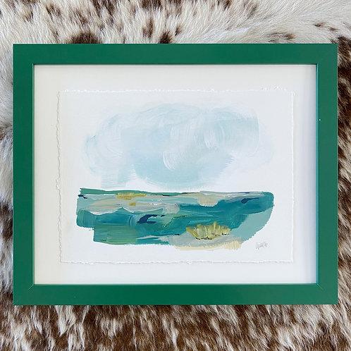"""""""Brushed Landscape Hunter Green 1"""" 11x14"""