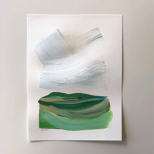 """Layered Landscape 3"" 9x12"