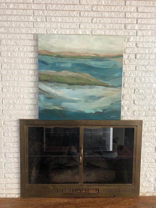 """""""Waterways"""" 36 x 36"""