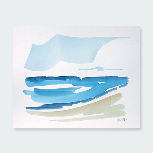 """Seascape 3""   8 x 10"