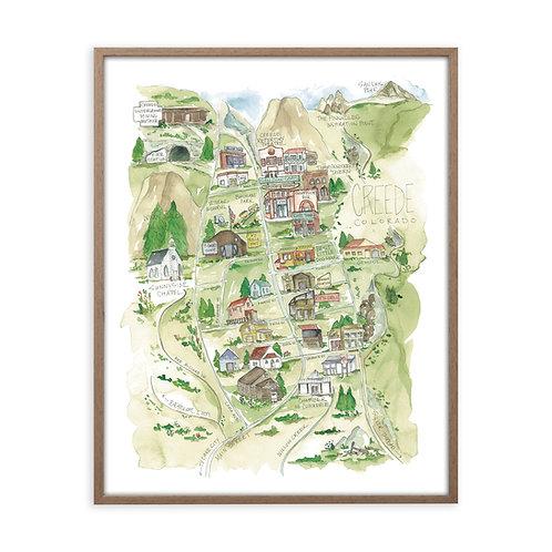 """Creede, Colorado Map"" Print"