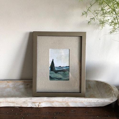 Cypress View - Medium Framed Print