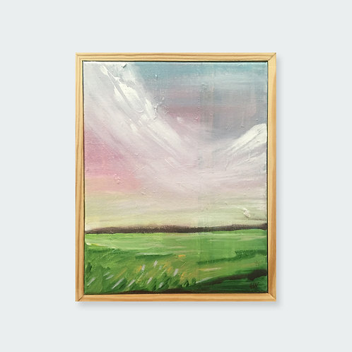 """""""Spring Sunset"""" with frame"""
