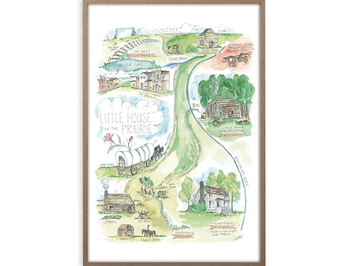 """Little House on the Prairie Story Map"" Print"