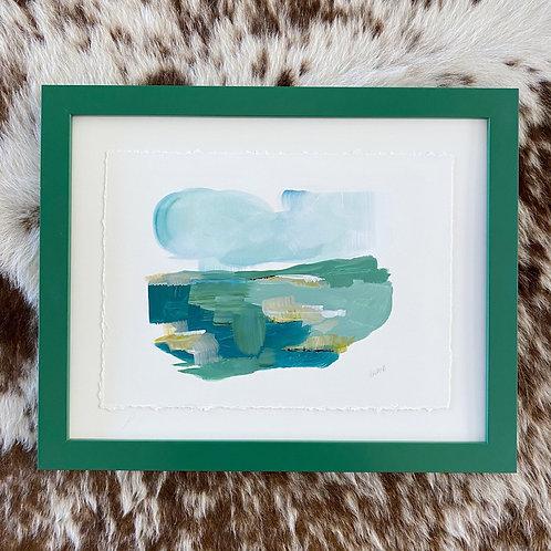 """""""Brushed Landscape Hunter Green 2"""" 11x14"""