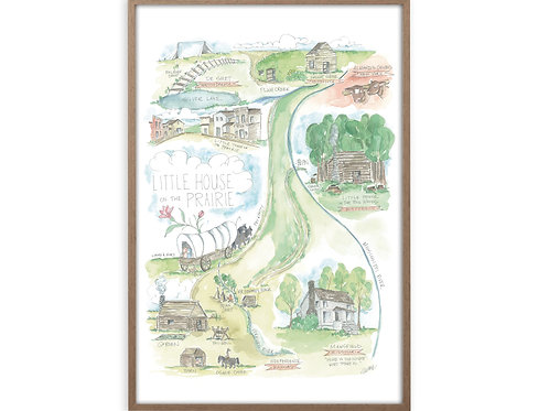 """""""Little House on the Prairie Story Map"""" Print"""