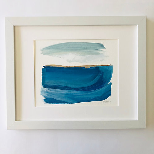 """Carefree Series: Seascape 3"" 8x10 Framed"