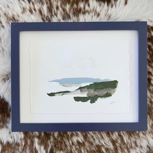 """""""Brushed Landscape Navy 3"""" 11x14"""
