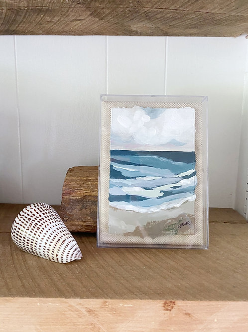 """Small Seascape III""  -  5"" x 7"""