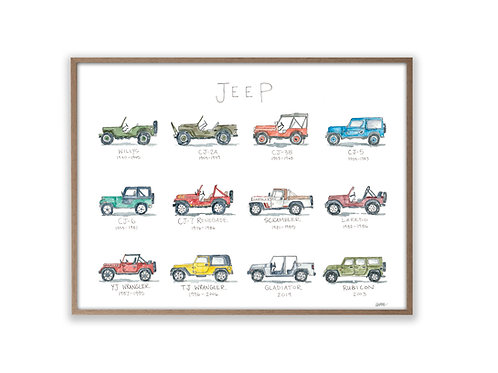 """""""Jeep Life: A Watercolor Story""""  Print"""