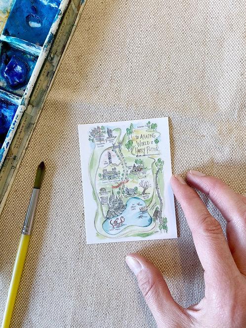 """""""Harry Potter Story Map"""" Sticker"""