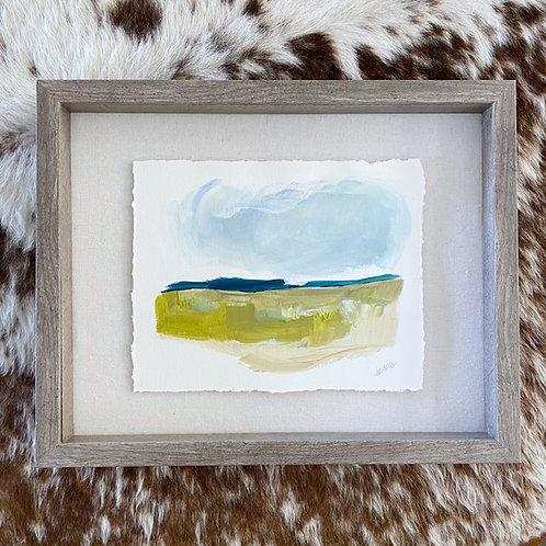 """""""Brushed Landscape Shadowbox"""" 11x14"""