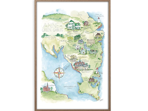 """""""Anne of Green Gables Story Map"""" Print"""