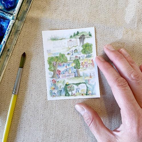 """Alice in Wonderland Story Map"" Sticker"