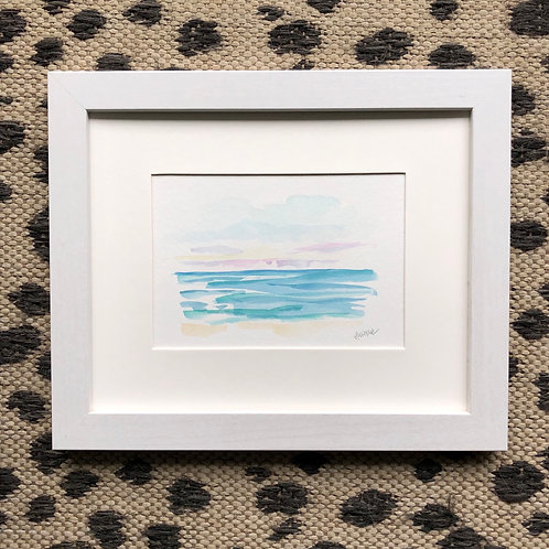 """Seaside 3"" 5x7 Framed"