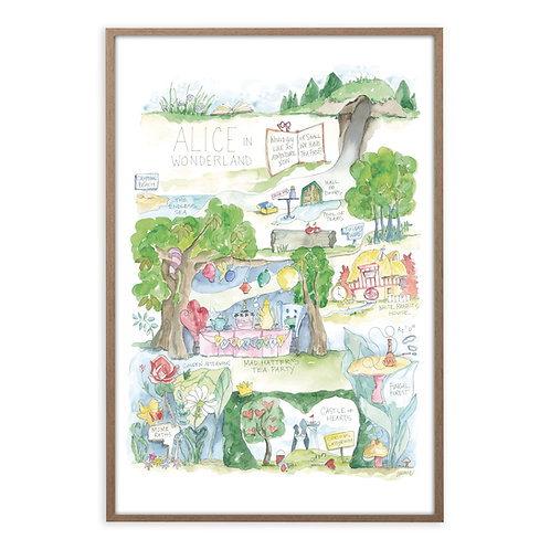 """Alice in Wonderland Story Map"" Print"