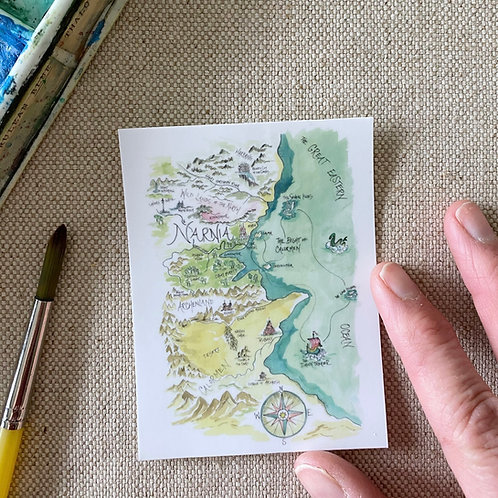 """Narnia Story Map"" Sticker"