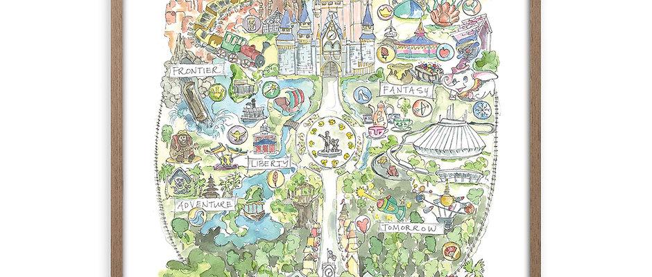 """Disney World Story Map"" Print"