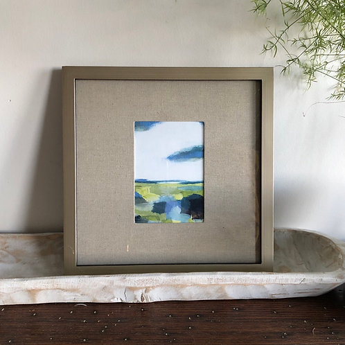 Abstract Meadow - Large Framed Print