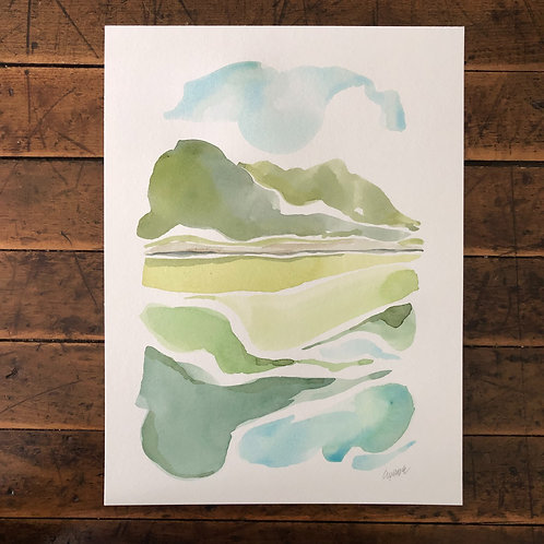 """On the Lake"" 9x12"