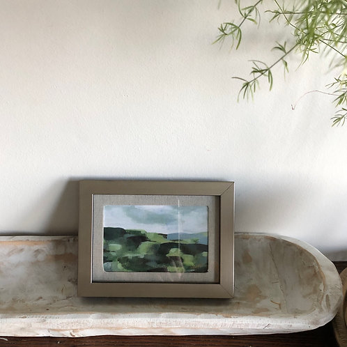 Abstract Hills - Small Framed Print