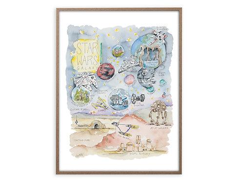 """Star Wars Story Map"" Print"