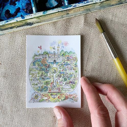"""""""Disneyland Map"""" Sticker"""