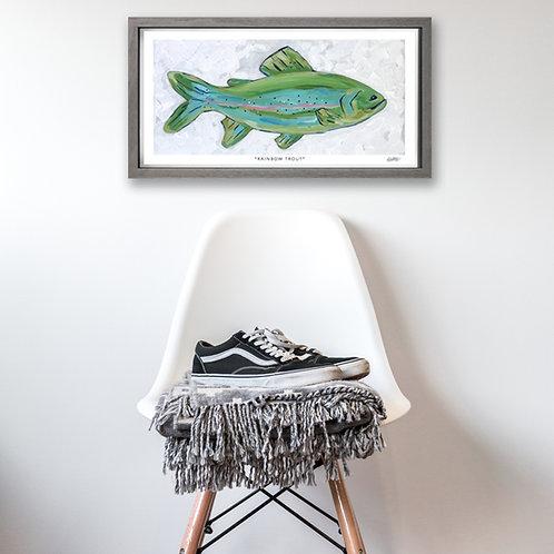 """""""Rainbow Trout"""" Print 9x19 (Wholesale)"""
