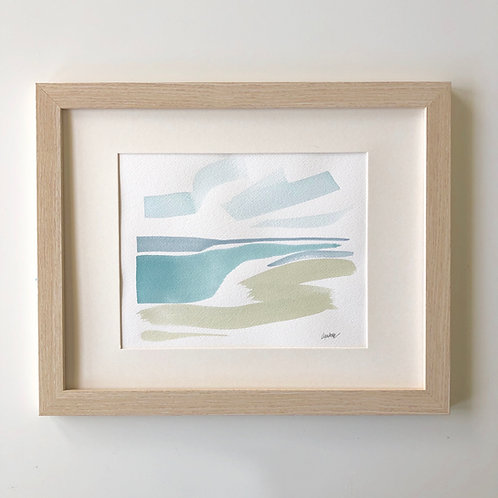 """Seaside 30A Seascape"" 8x10 framed"