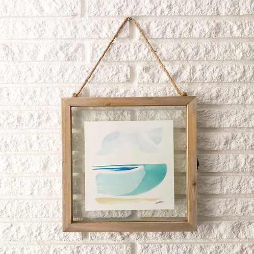 """""""Seascape Abstract 1"""" 8x8 framed"""