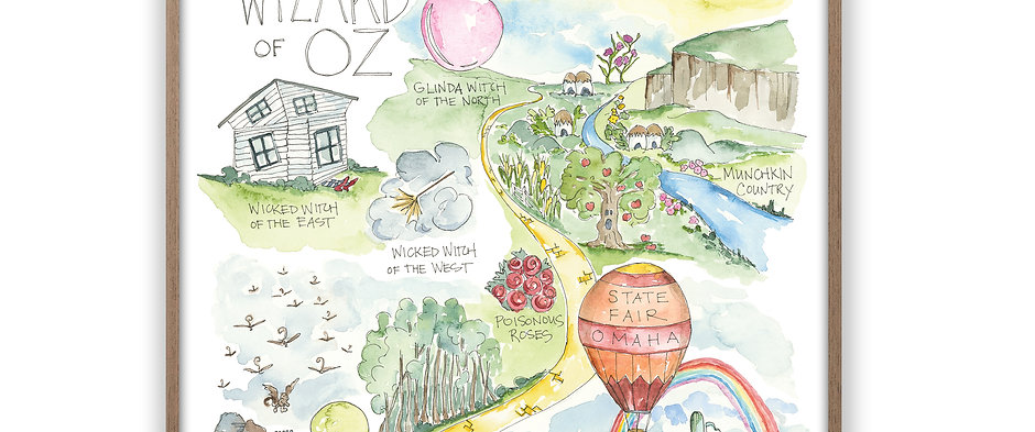 """""""Wizard of Oz Story Map"""" Print"""
