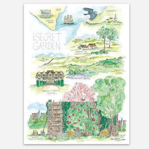 """""""Secret Garden Story Map"""" Sticker"""