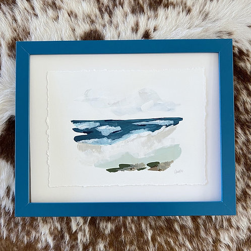 """""""Brushed Landscape Aquamarine"""" 11x14"""