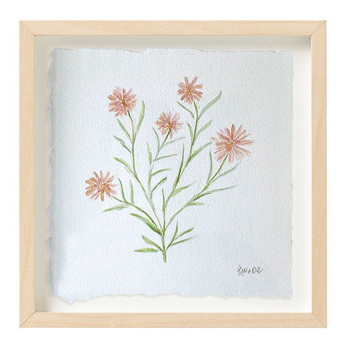 """Daisy Watercolor"" 9x9"