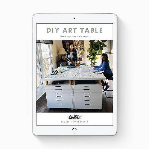 DIY Art Table Plan Download