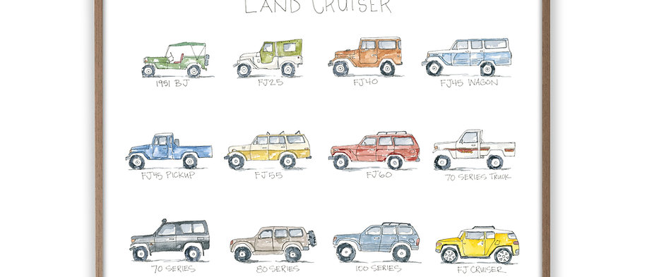 """Land Cruiser: a Watercolor Story"" Print"
