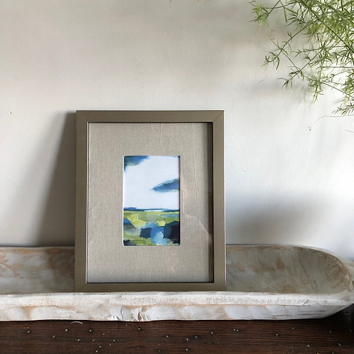 Abstract Meadow - Medium Framed Print