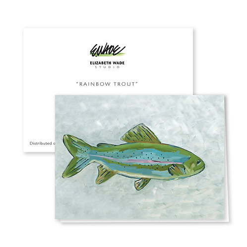 Rainbow Trout Notecard