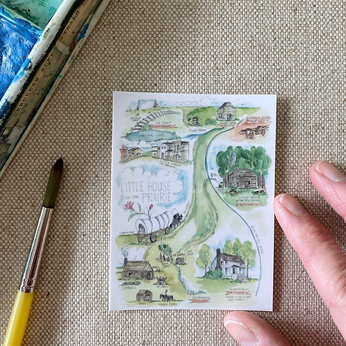 """""""Little House on the Prairie Story Map"""" Sticker"""