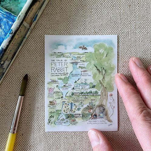 """Peter Rabbit Story Map"" Sticker"