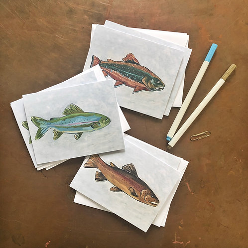 Trout Notecard Set